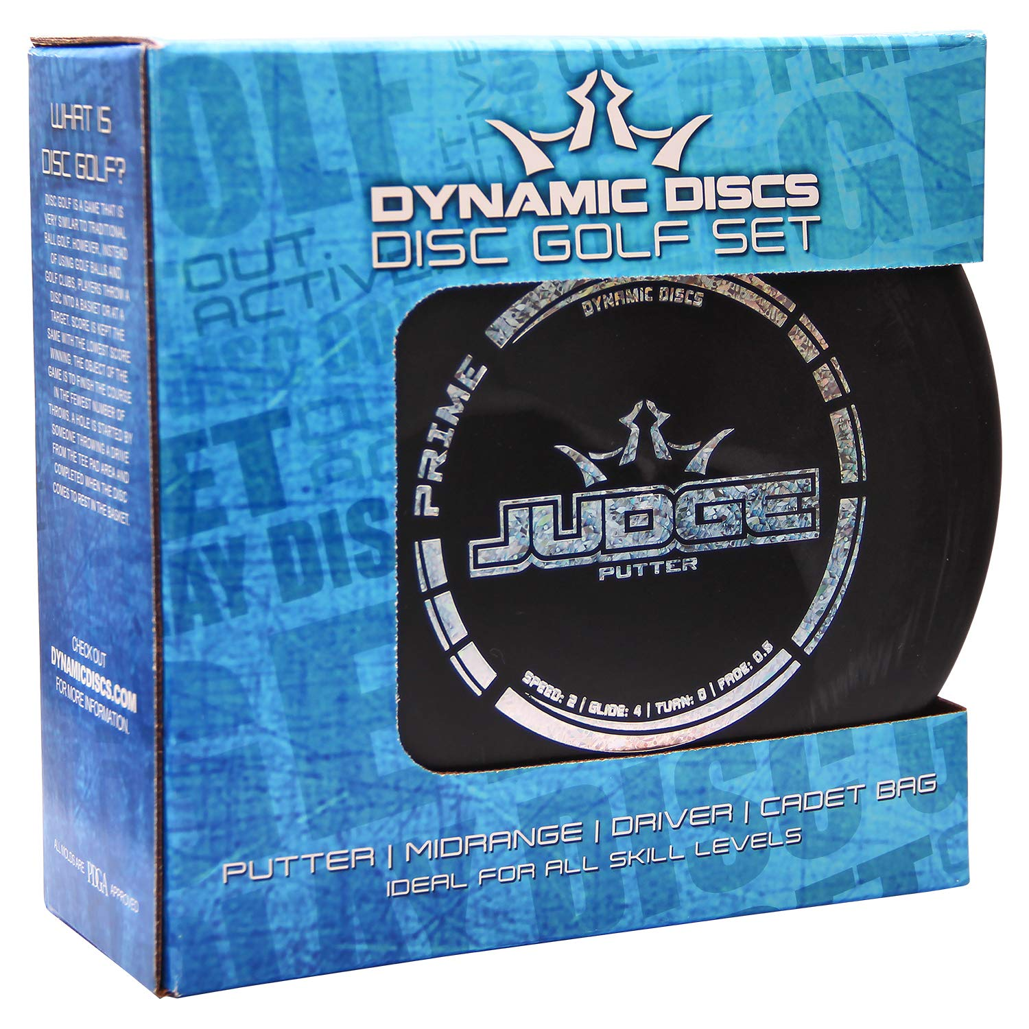 Dynamic Discs 3 Disc Starter Set with Cadet Disc Carrying Bag