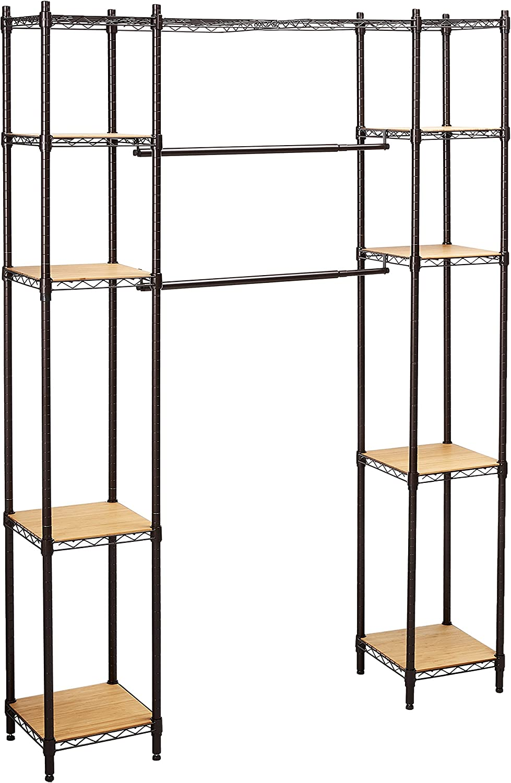 Trinity Expandable Closet Organizer Dark Bronze