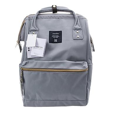 Anello Official Grey Japan Fashion Shoulder Rucksack Backpack Hand Carry  Tablet Travel Diaper Bag Unisex a050c437f27f3