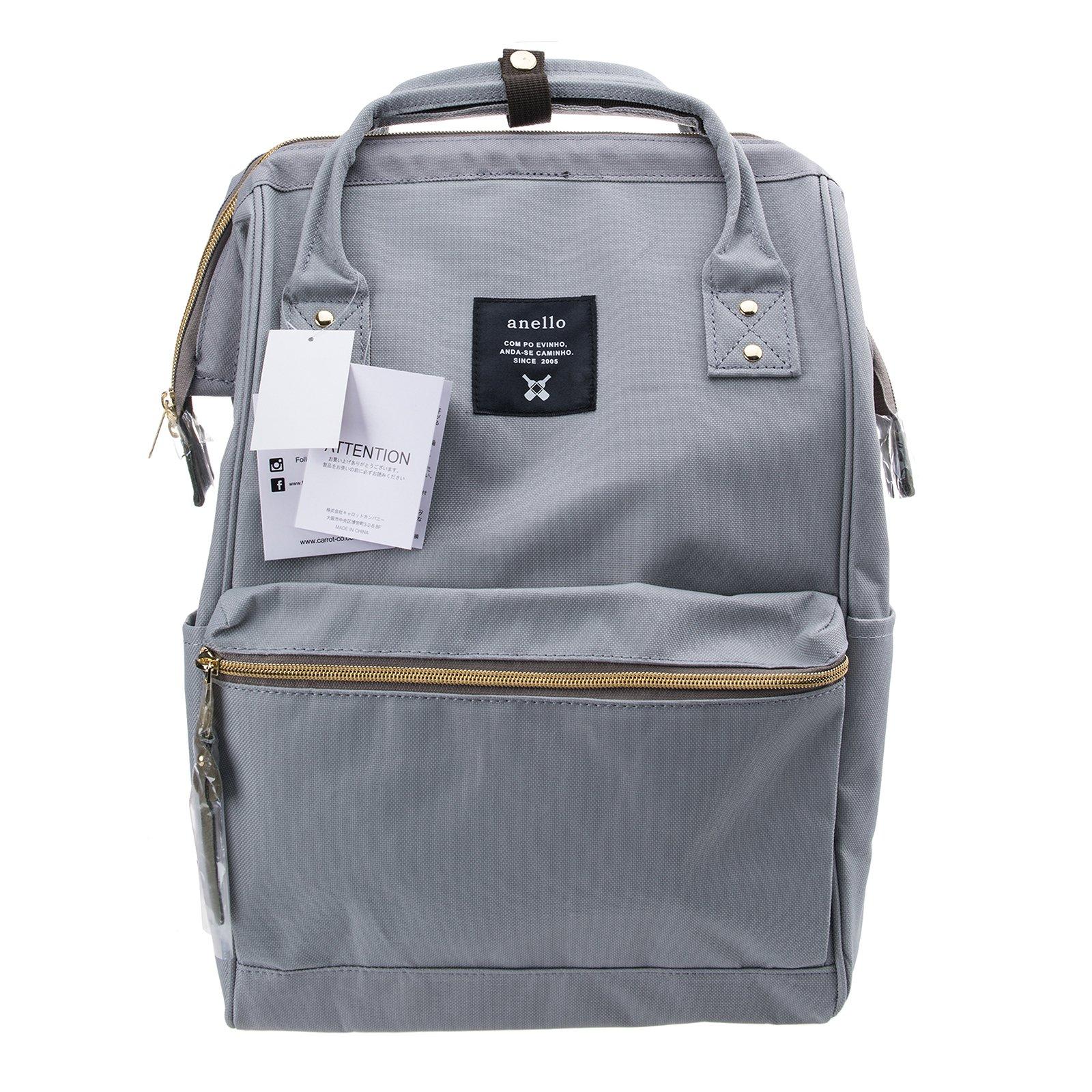 0bbdcfbc26e9 Galleon - Anello Official Grey Japan Fashion Shoulder Rucksack Backpack  Hand Carry Tablet Travel Diaper Bag Unisex