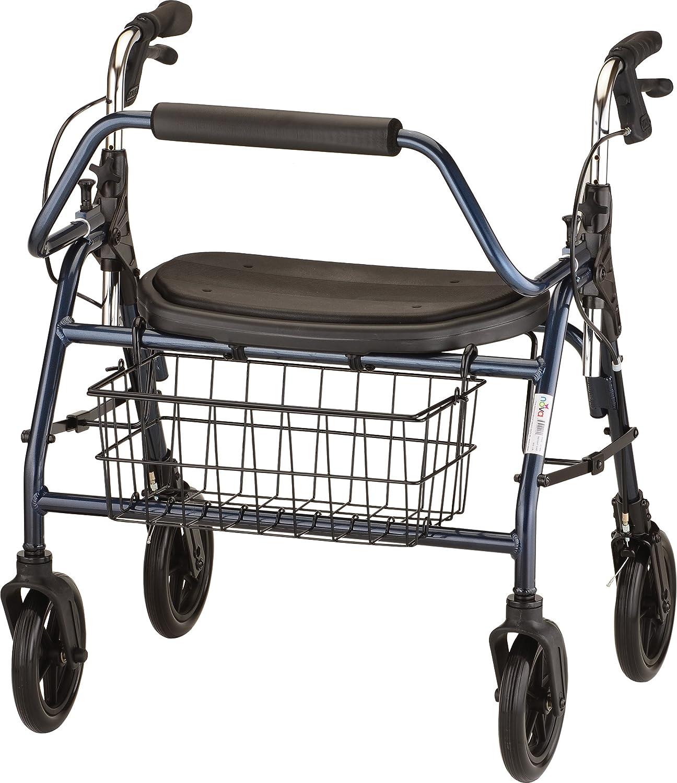 NOVA Mighty Mack Heavy Duty Rollator Walker 500 lb Weight Capacity, Blue: Health & Personal Care
