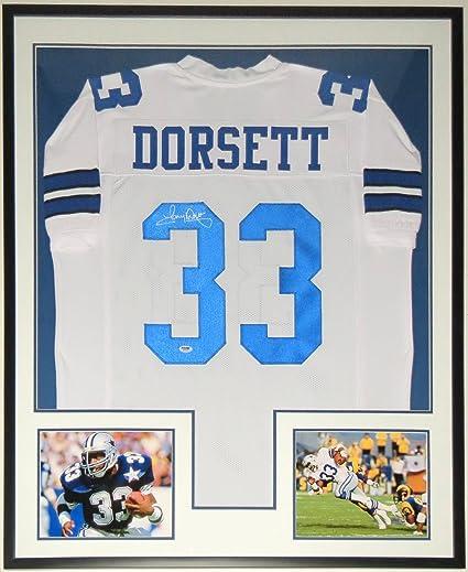 eaae65afe Tony Dorsett Signed Cowboys Jersey - Authenticated by PSA DNA COA - Custom  Framed   2