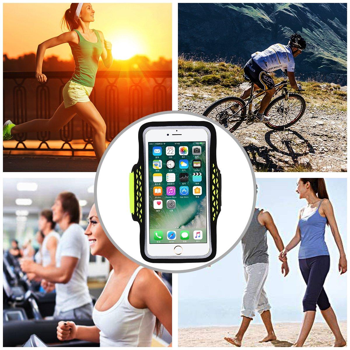 400fc31a8e3 Haissky deporte running Armband Accesorios de móviles y telefonía a prueba  de sudor brazalete para iPhone 7 Plus 6 ...