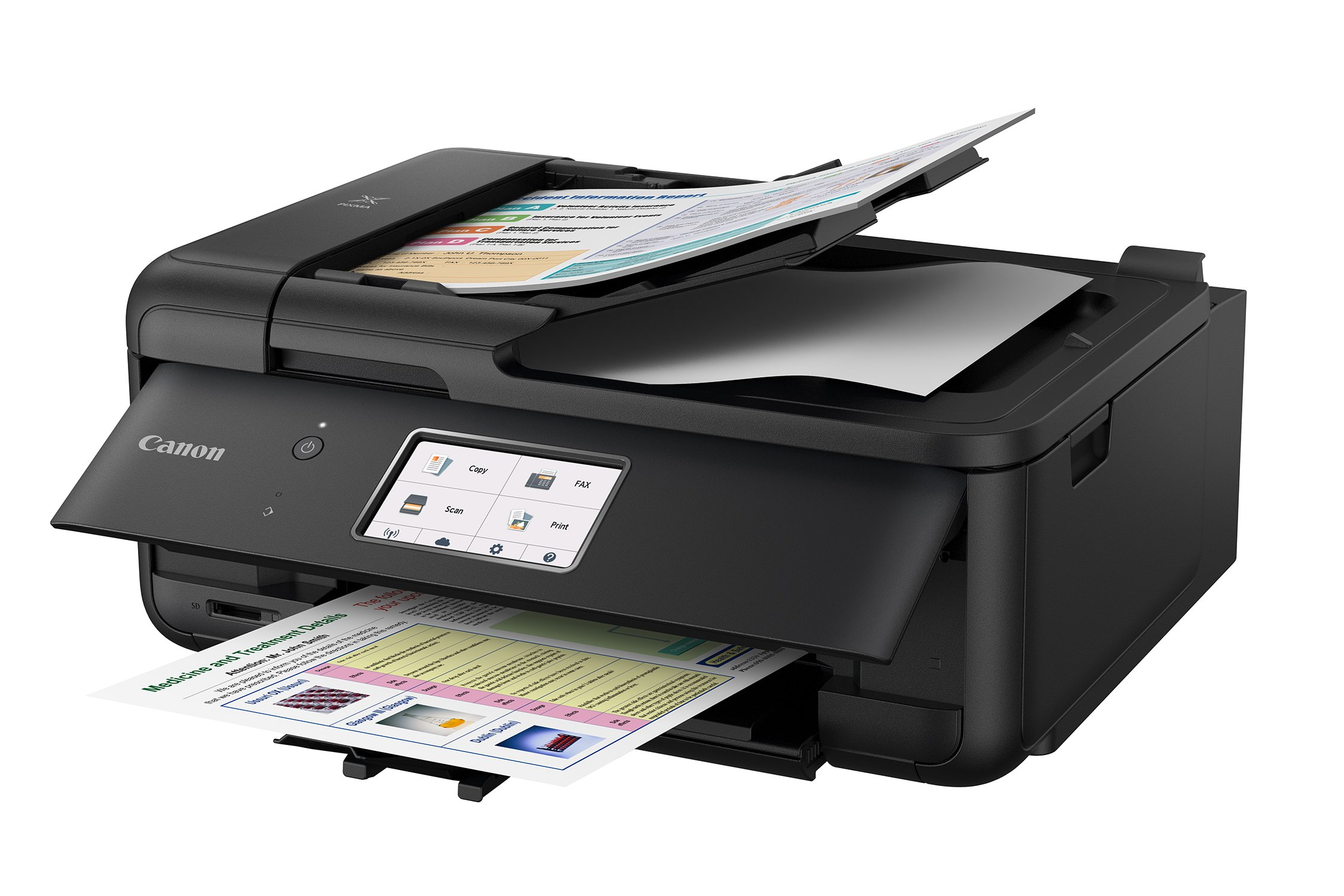 Canon PIXMA TR8520 Wireless All in One Printer | Mobile Printing | Photo and Document Printing, AirPrint(R) and Google Cloud Printing, Black by Canon (Image #3)