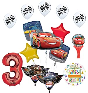 Amazon.com: Plata Número 9o cumpleaños Disney Cars Rayo ...