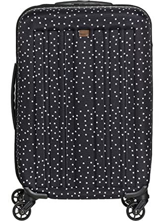 25d48bceb Amazon.com: Roxy Junior's Stay True Wheelie Rolling Suitcase, Black dots  for Days, One Size: Clothing