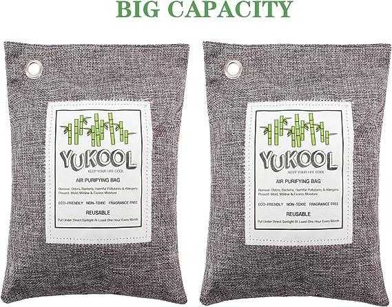YUKOOL Bolsas de purificación de Aire de carbón, purificador de ...