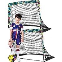 Dimples Excel Soccer Goals Kids Soccer Net for Backyard 4'x3', 2 Set