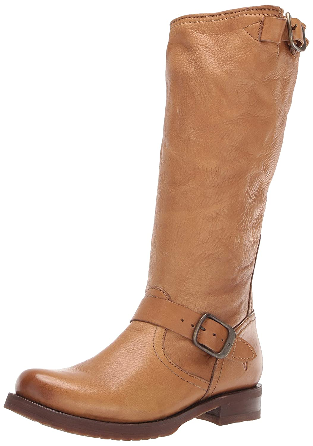 Camel Frye Womens Veronica Slouch Motorcycle Boot
