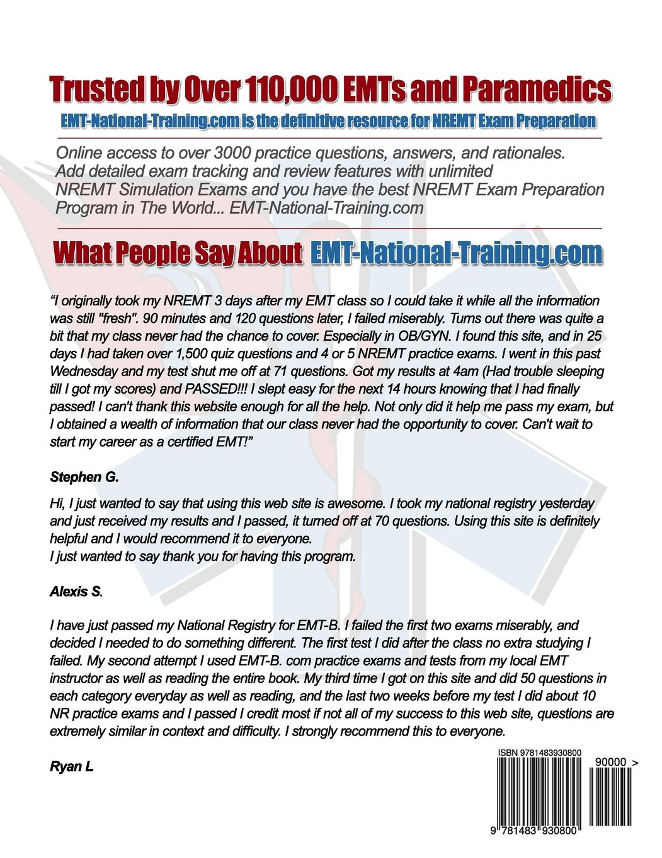 EMT National Training Emergency Medical Responder, EMR Practice Questions:  Mr Travis W Holycross, Mr Arthur S Reasor, Mrq Ryan L Asher: 9781483930800:  ...