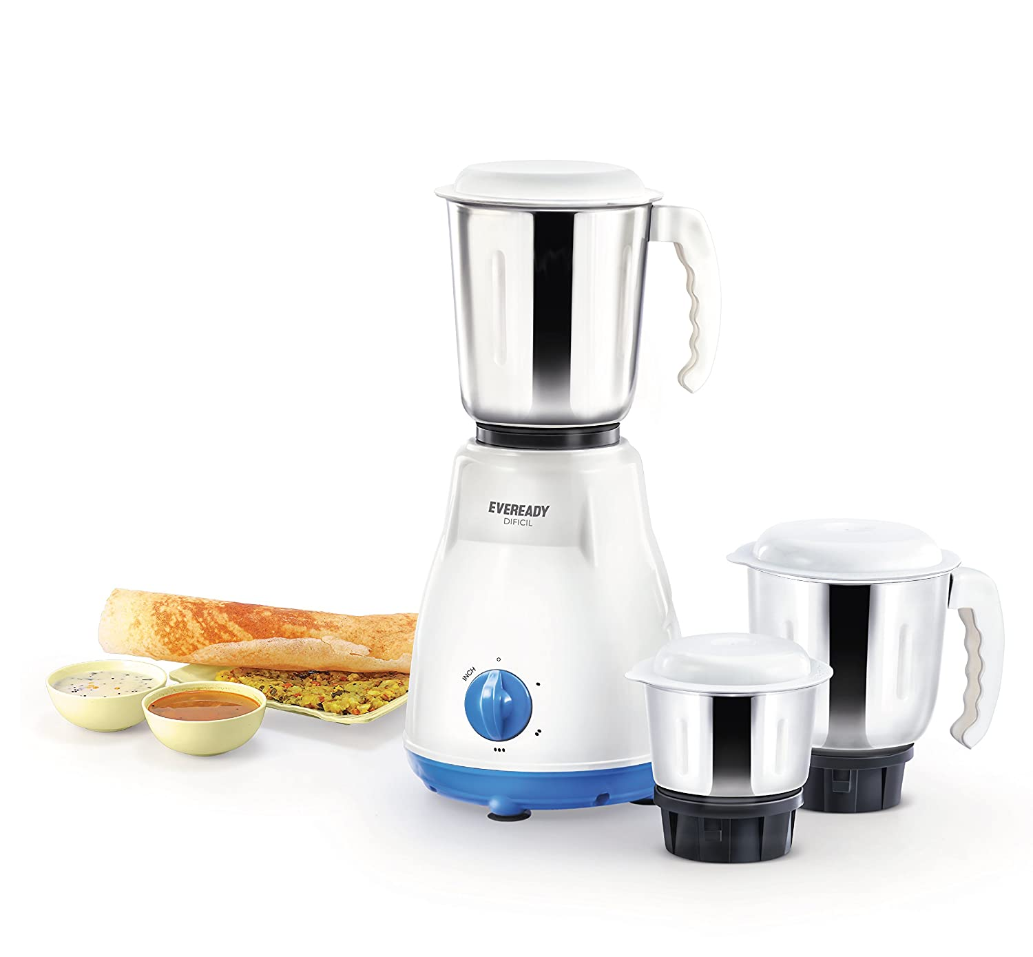 Eveready DIFICIL 500W Mixer Grinder (3 Jar) Image