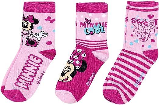 Lot de 3 paires de chaussettes Minnie en plastique ABS pour fille
