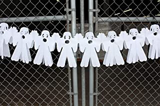 product image for 3-Pack 12 Foot Spanning Halloween Themed Tissue Paper Ghost Garland Decoration