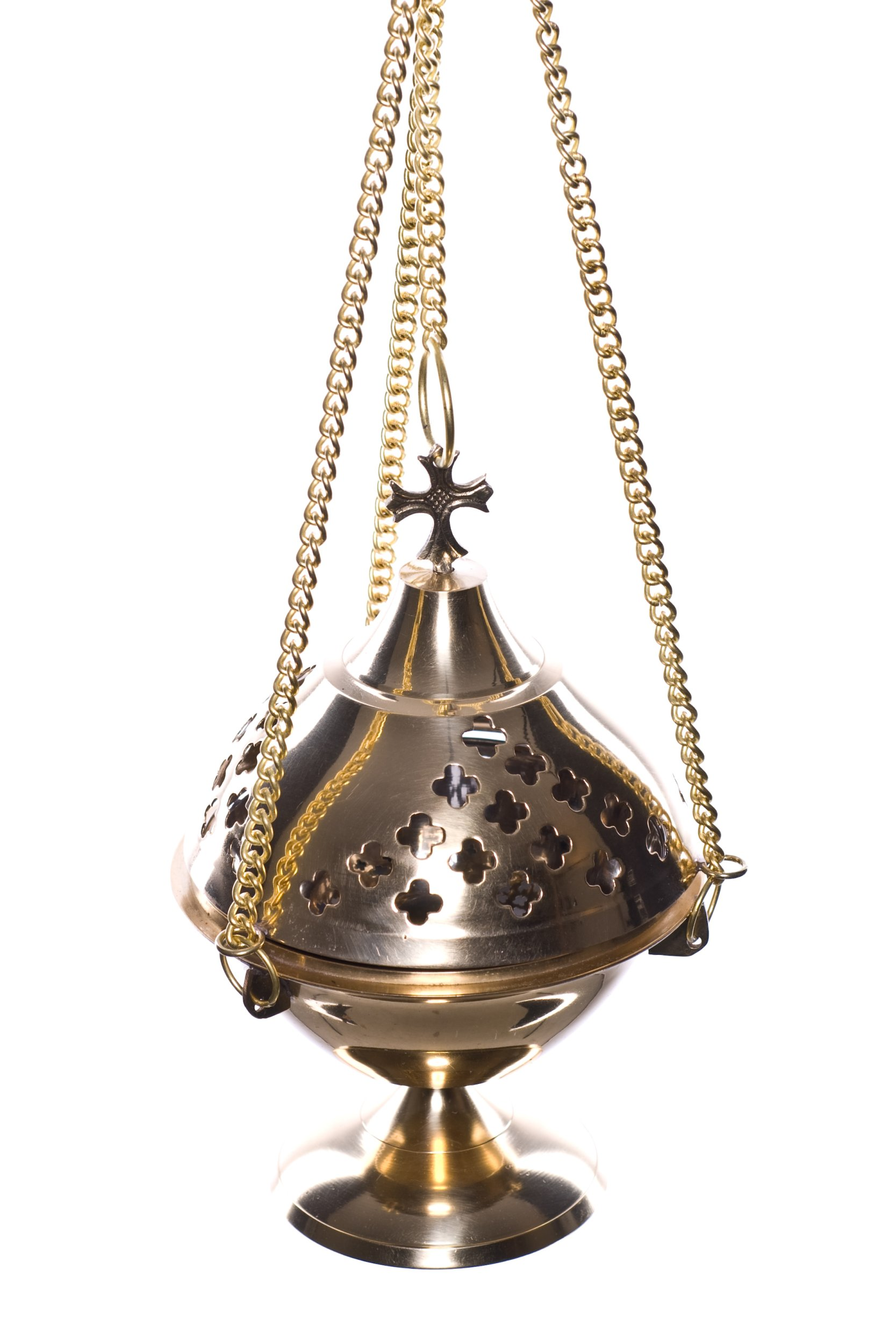 MDS Brass 3 Chain Incense Burner by mds