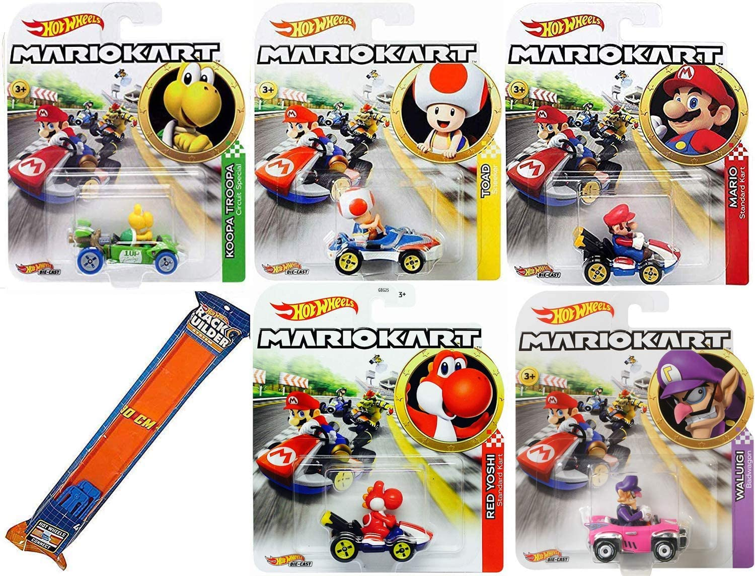 Amazon Com Hot Wheels Speed Off Line Mariokart Character Car Set