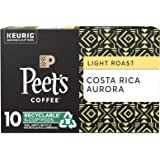 Peet's Coffee Costa Rica Aurora K-Cup Coffee Pods for Keurig Brewers, Light Roast, 10 Pods