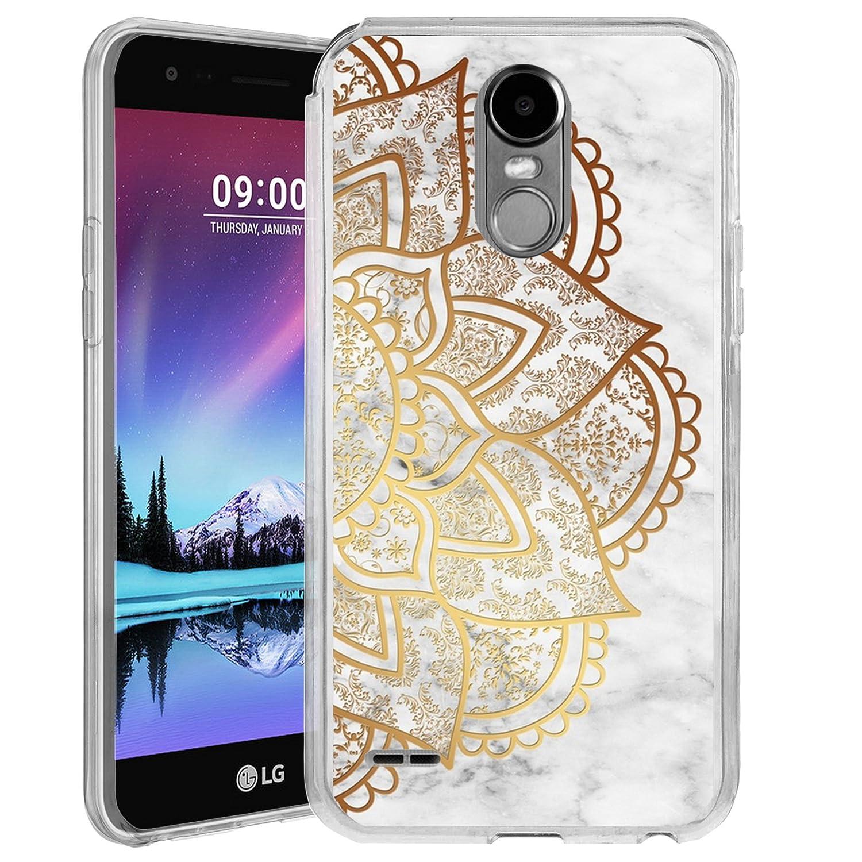 Untouchble Case for LG Aristo, LG Rebel 2 LTE, LG Fortune, LG Phoenix 2 TPU Slim Case [Flex MAX] Durable Cover Ultra Slim Flexible TPU Case Skin Design Bump Shock Protector - Gold Mandala