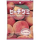Japanese Fruit Gummy Candy from Kasugai - Peach - 107g