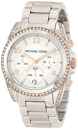 Amazoncom Michael Kors Womens MK5459 Blair Silver Rose Gold