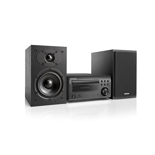 Denon D M41 Minicadena de música para Uso doméstico Negro 60 W Microcadena Minicadena de música para Uso doméstico Negro Monótono 1 Discos 60 W De 1 vía