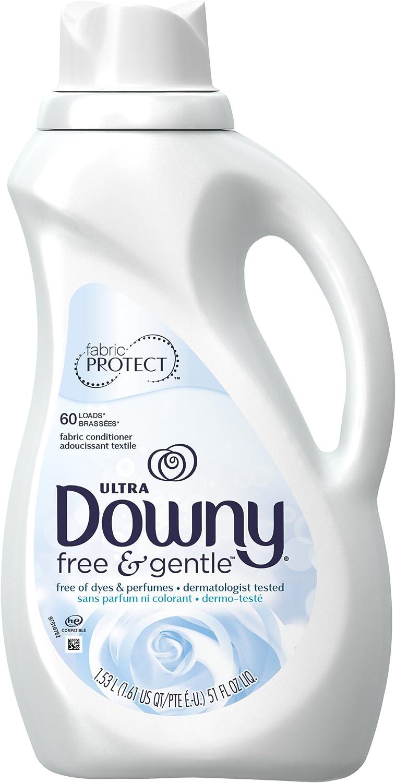 Downy Free & Gentle Liquid Fabric Conditioner (Fabric Softener), 51 FL OZ