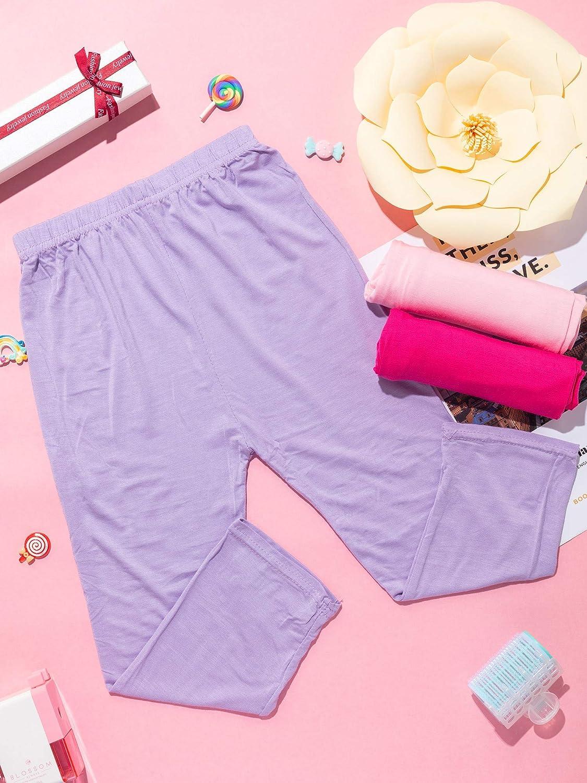 Syhood 6 Pieces Girls Capris Leggings Cotton Crop Summer Leggings for School Wearing