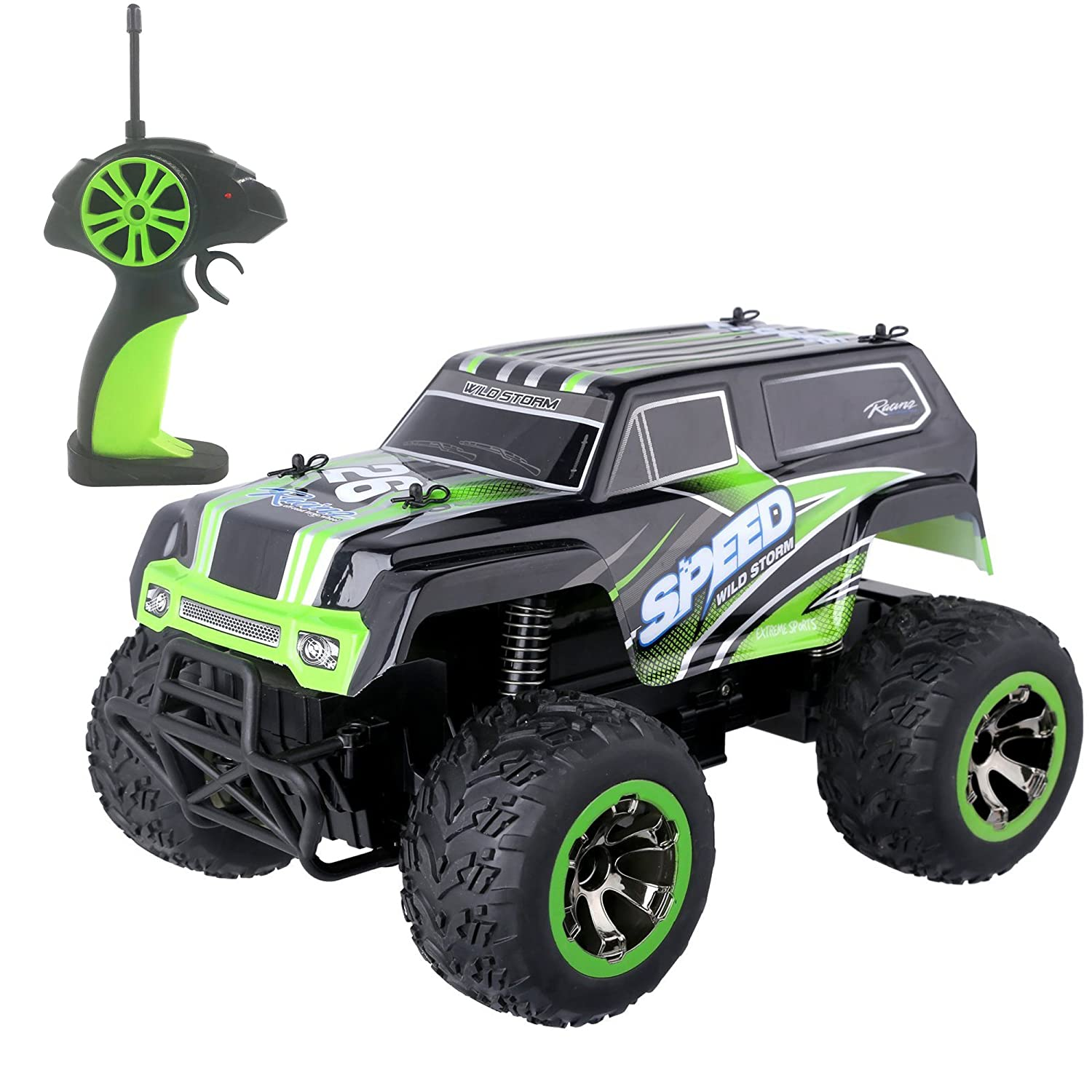 SZJJX Remote Control Car RC Off-Road Water Resistant Crawler Truck 2.4Ghz 2WD RC Truck 1:18 Radio Control Buggy Electric Fast Vehicle Hobby