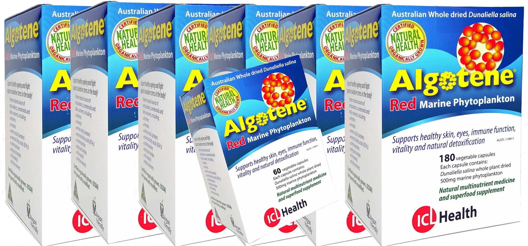 Algotene Dunaliella Salina Red Marine Phytoplankton 6 x 180 Capsules Plus 60 Capsules FREE