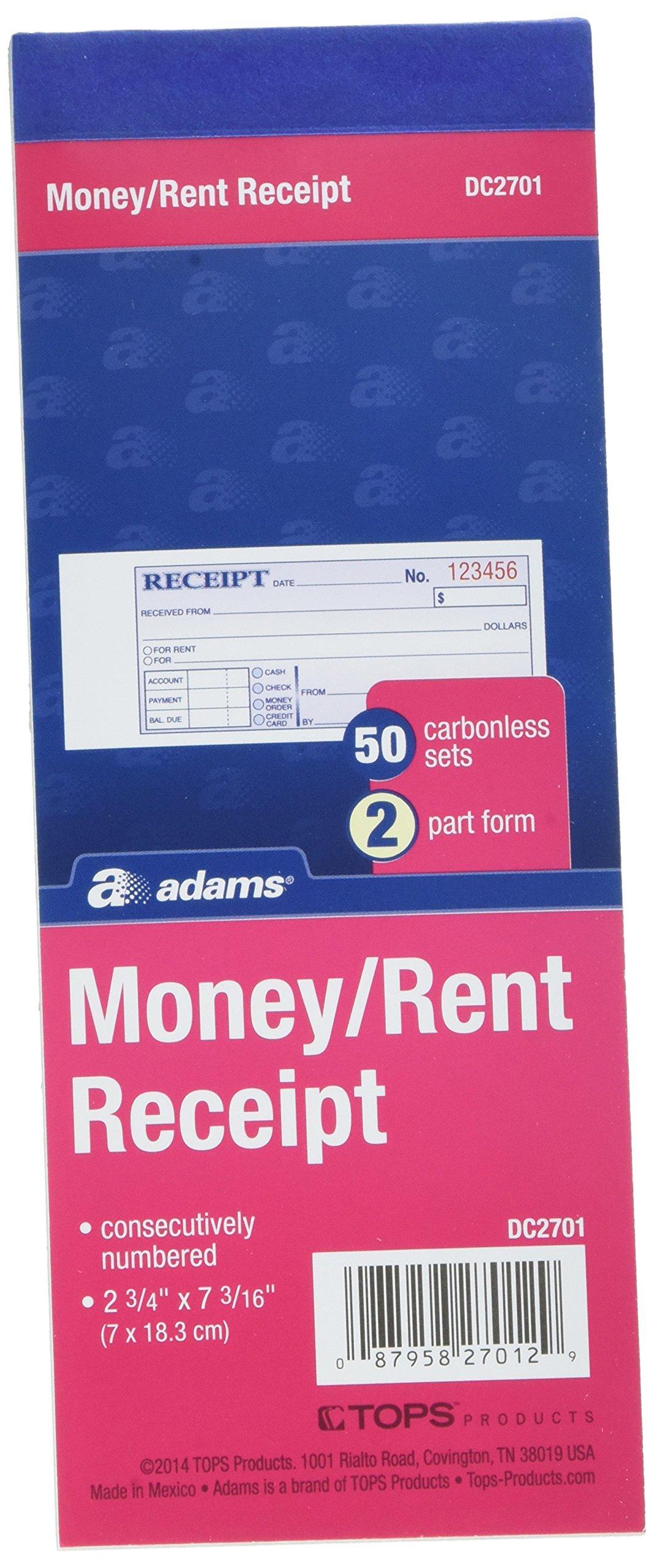 Adams DC2701 2 Part Receipt Book