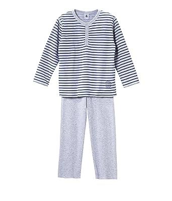 9ff3f531d8555 Petit Bateau Seigneur - Pyjama - Garçon - Multicolore (Fumee/Shore) - 12