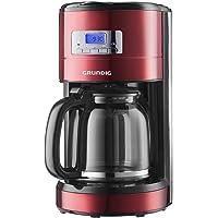 Grundig KM 6330 Kaffeemaschine Red Sense (Digitaluhr, programmierbare Startzeit) metallic rot