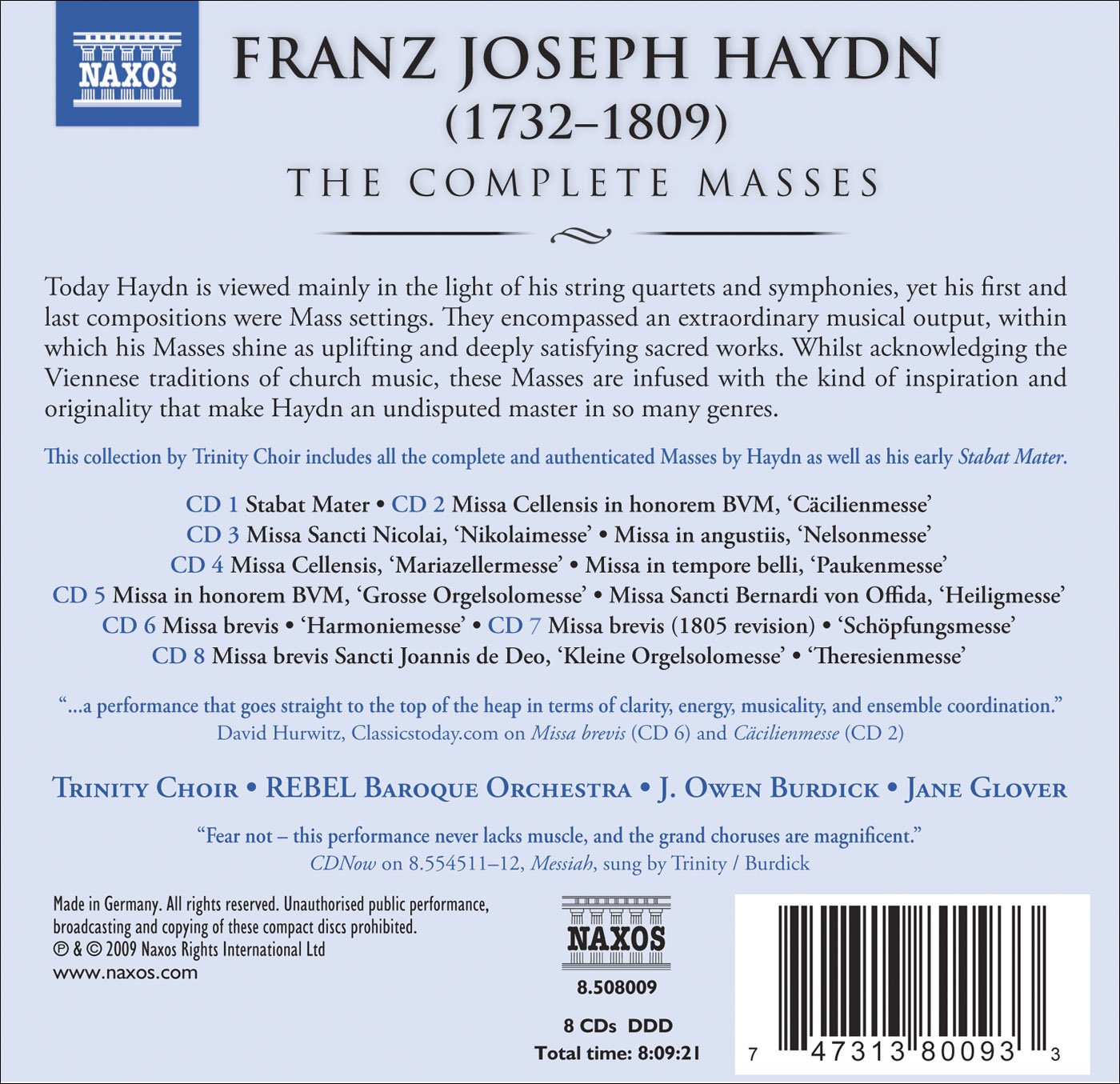 Complete Masses by Naxos Box Sets