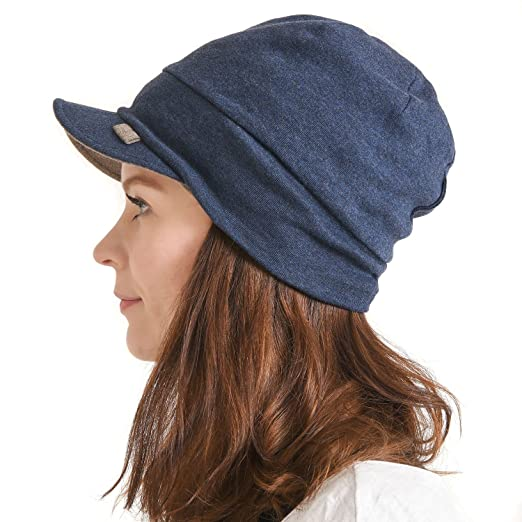 CHARM Organic Cotton Mens Beanie Cap - Womens Slouchy Peak Hat Sensitive  Skin Chemo Wear Handmade 69615a8d1ce3