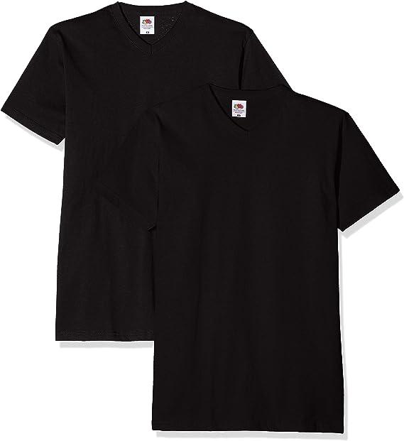 TALLA L. Fruit of the Loom Valueweight V-Neck T Camisa para Hombre