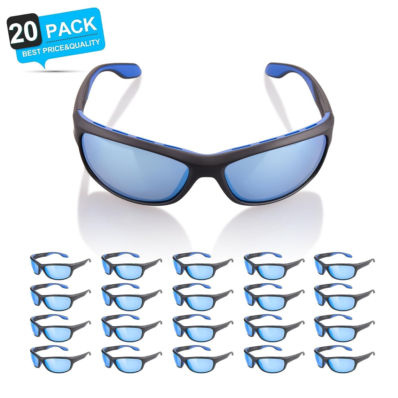 メンズ&レディース – Zhara Tac偏光サングラススポーツサングラス釣り、ゴルフ、ハイキング、ランニング、サイクリング、とカジュアル使用、105 % UV保護スポーツサングラス B078MHFSN8 20 Pack Blue