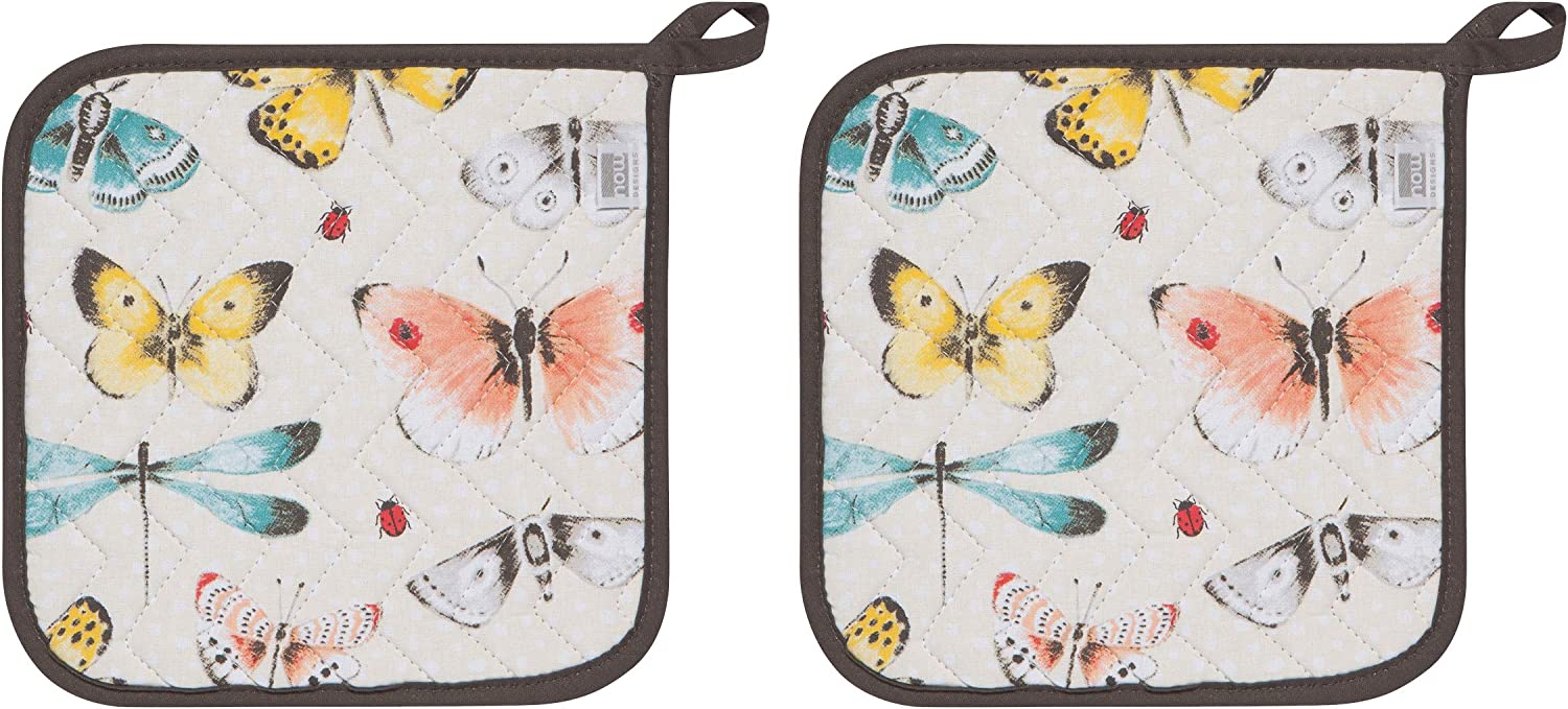 Now Designs Potholders Basic, Fly Away Print
