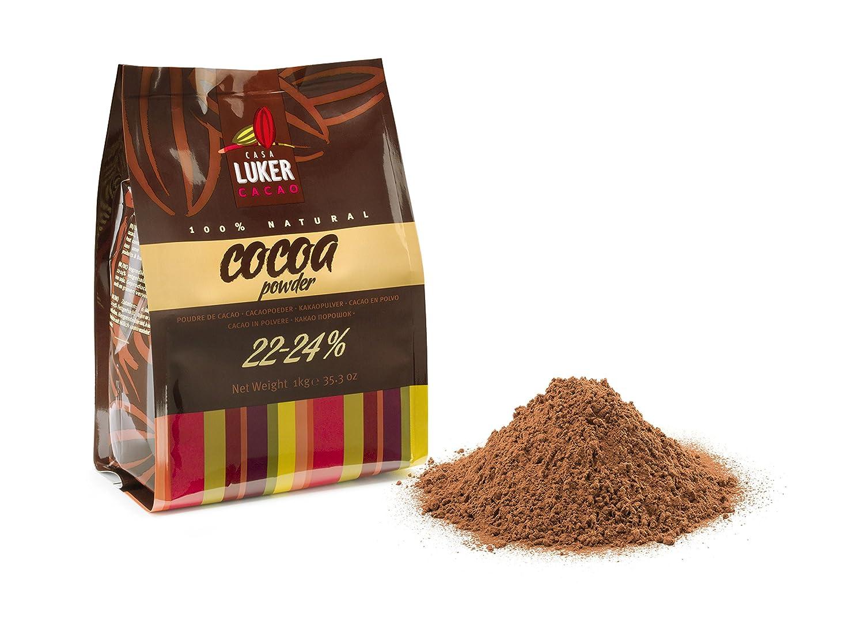 CasaLuker - Cacao en Polvo Natural 22-24% No Alcalinizado 1kg: Amazon.es: Alimentación y bebidas