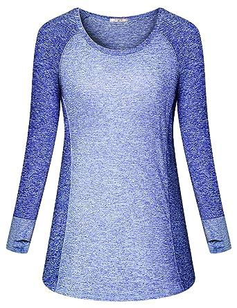 2b3c5c1b4 Amazon.com  Viracy Women s Long Sleeve Yoga Tops Activewear Running ...