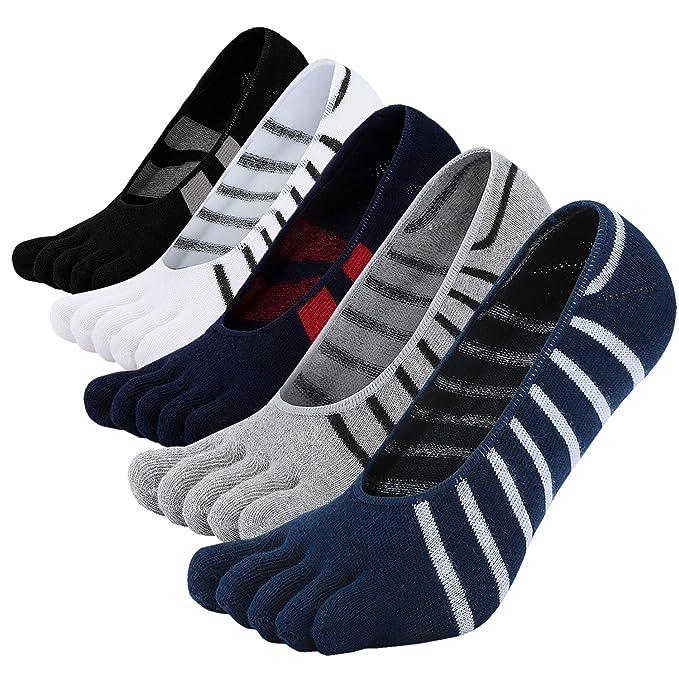 Calcetines sin punta del pie para hombre Calcetines de corte bajo Zapatillas de deporte con tacón