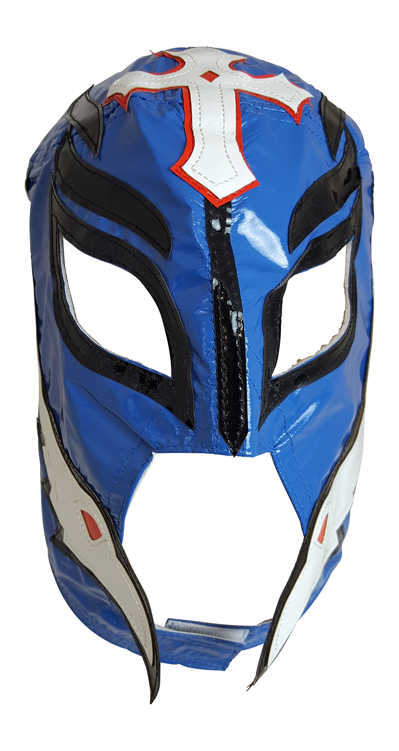 Lucha Libre Mask Adult Size Black Blue Red Pro Wrestling by Extreme Wrestling Shirts