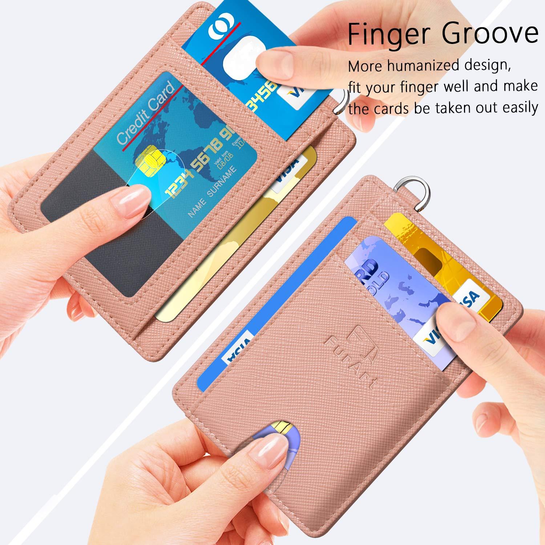 FurArt Slim Minimalist Wallet, Front Pocket Wallets, RFID Blocking, Credit Card Holder with Disassembly D-Shackle by FurArt (Image #3)