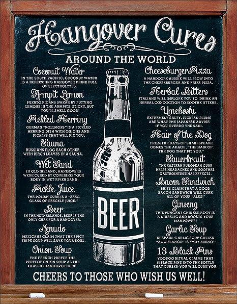 Desperate Enterprises Hangover Cures Tin Sign, 12.5