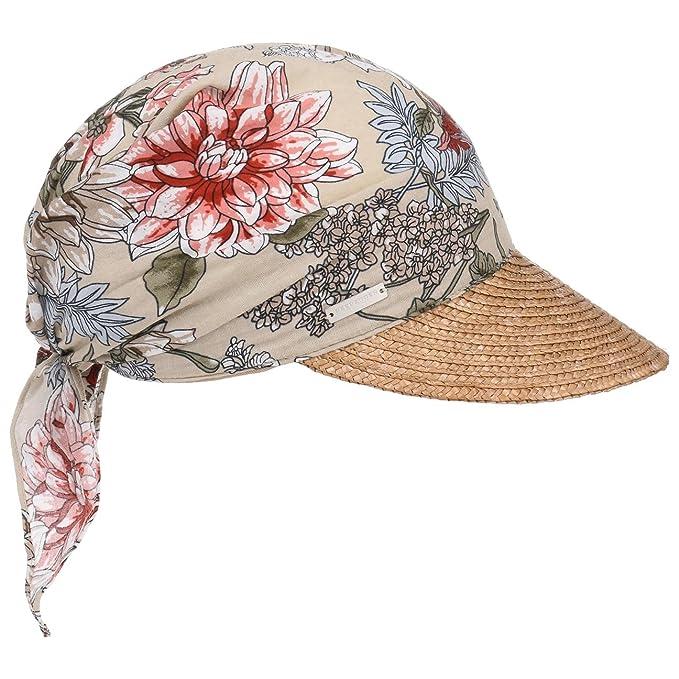 Seeberger Cappellino Flower High UV Bandana visiera da sole donna Taglia  unica - natura b53c0c72983d