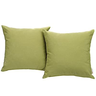 Modway Convene Outdoor Patio All-Weather Pillow in Peridot - Set of 2 : Garden & Outdoor