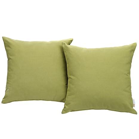 Modway Convene Two Piece Outdoor Patio Pillow Set, Peridot