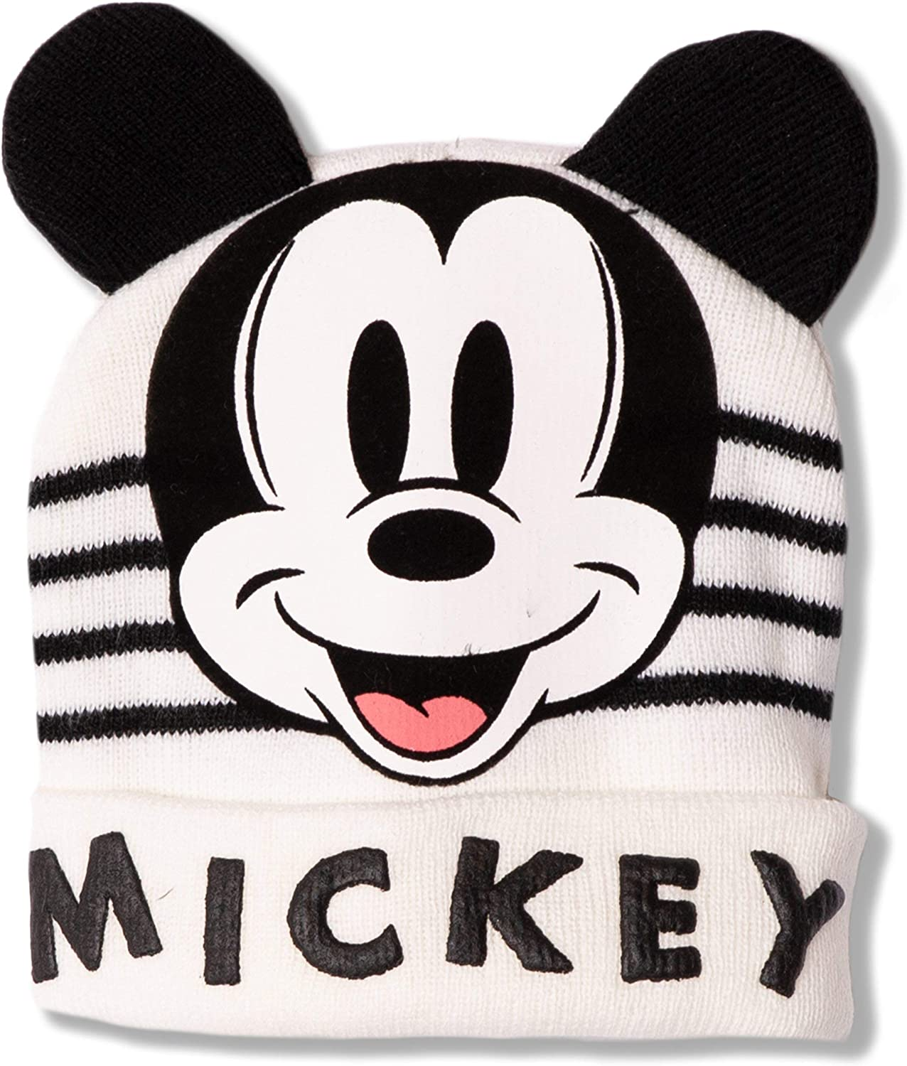 Red 50 Disney Mickey Mouse Knitted Baby Boys Girls Warm Winter Beanie Hat with Character Ears