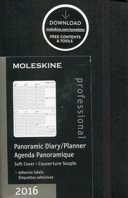 Moleskine Panoramic - Agenda 2016, 12 meses, tamaño bolsillo, color negro