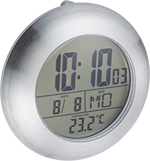 HITO LCD Bathroom Shower Clock Displays Time, Date, Week And Temperature W/  Suction Part 72