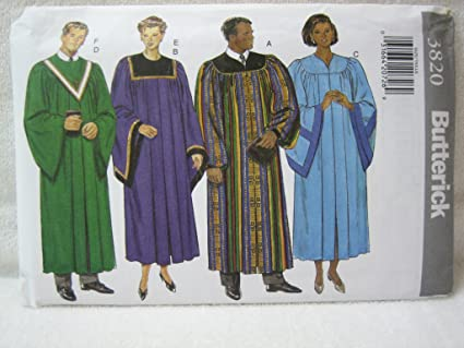 Amazon Butterick Pattern 3820 Unisex Adult Robe And Collar Xs Xl