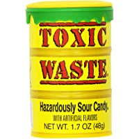 Toxic Waste 1.7-Ounce Drums Yellow 12 Units, 0.52-Kilogram